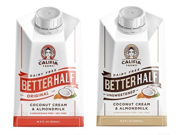 The Guide to Dairy Free Coffee Creamer Califia Farms Better Half pictured